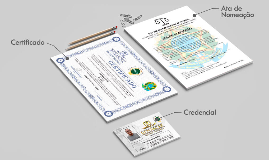 Certificados do Curso Capelania Evangélica