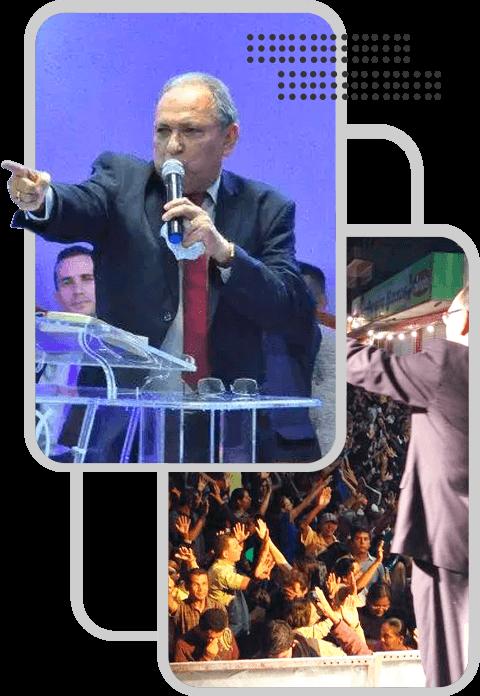 Pastor Napoleão Falcão Pregando e Ensinando